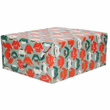 Goedkope 2x rollen kerst inpakpapier cadeaupapier blauw 2 5 x 0 7 meter
