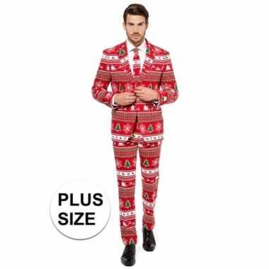 Goedkope compleet grote maten kostuum met kerstboom print