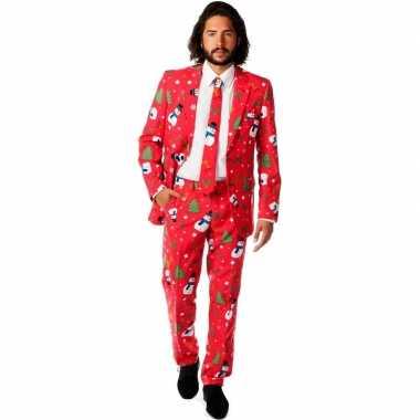 Goedkope compleet kostuum met kerst print