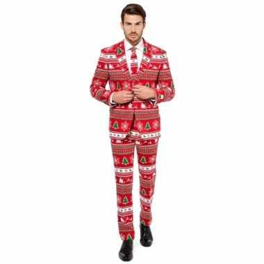 Goedkope compleet kostuum met kerstboom print