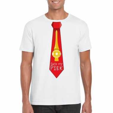 Goedkope fout kerst t trui wit suck my piek rode stropdas voor heren