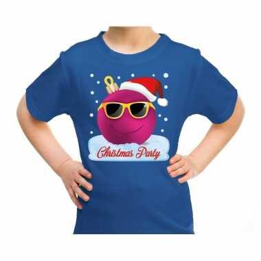 Goedkope fout kerstrui coole kerstbal christmas party blauw voor kids