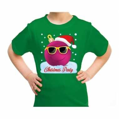 Goedkope fout kerstrui coole kerstbal christmas party groen voor kids