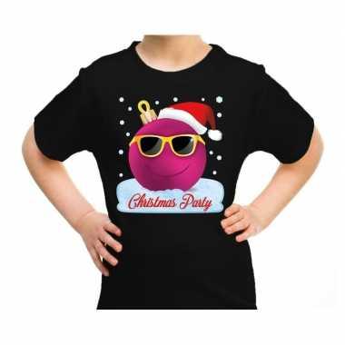 Goedkope fout kerstrui coole kerstbal christmas party zwart voor kids