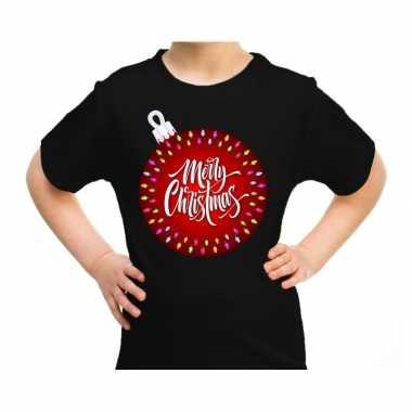 Goedkope fout kerstrui kerstbal merry christmas zwart voor kids