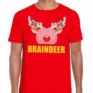 Goedkope foute kerst t trui braindeer rood voor heren