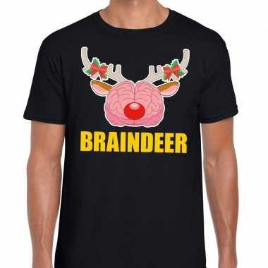 Goedkope foute kerst t trui braindeer zwart voor heren