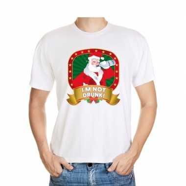 Goedkope foute kerstmis t trui wit i'm not drunk voor mannen