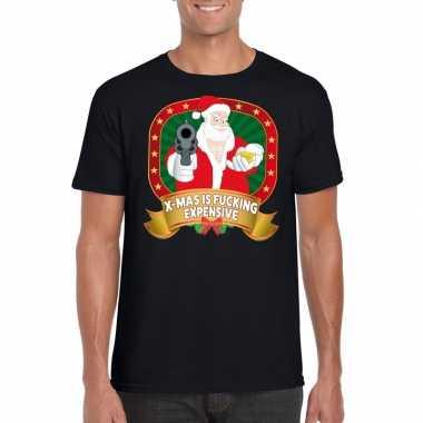 Goedkope foute kerstmis trui zwart x mas is fucking expensive voor ma