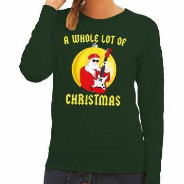 Goedkope foute kersttrui groen a whole lot of christmas voor dames