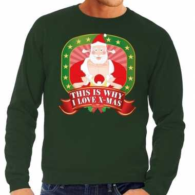 Goedkope foute kersttrui groen this is why i love christmas voor here