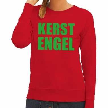 Goedkope foute kersttrui kerst engel rood voor dames