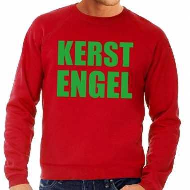 Goedkope foute kersttrui kerst engel rood voor heren