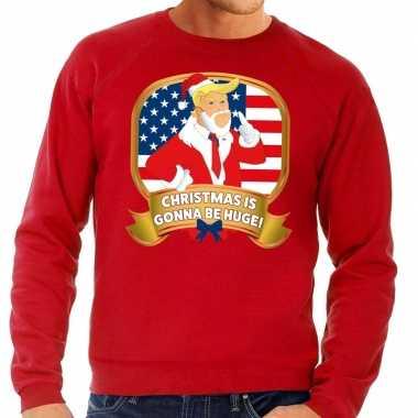Goedkope foute kersttrui rood christmas is gonne be huge voor heren