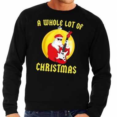 Goedkope foute kersttrui zwart a whole lot of christmas voor heren