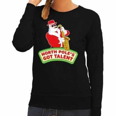 Foute Kersttrui Dames Goedkoop.Goedkope Foute Kersttrui Zwart North Poles Got Talent Voor Dames