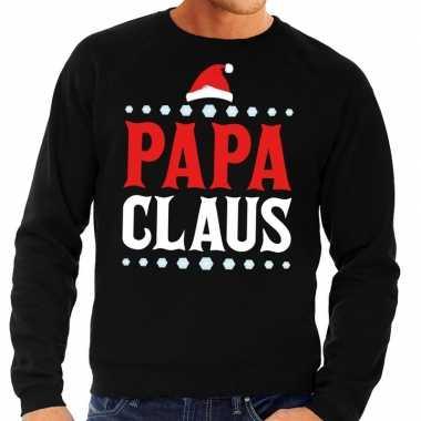 Goedkope foute kersttrui zwart papa claus voor heren