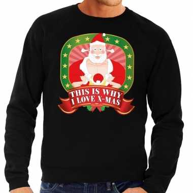 Goedkope foute kersttrui zwart this is why i love christmas voor here