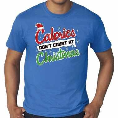 Goedkope grote maten foute kerstrui blauw calories dont count at christmas voor heren