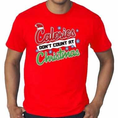 Goedkope grote maten foute kerstrui rood calories dont count at christmas voor heren