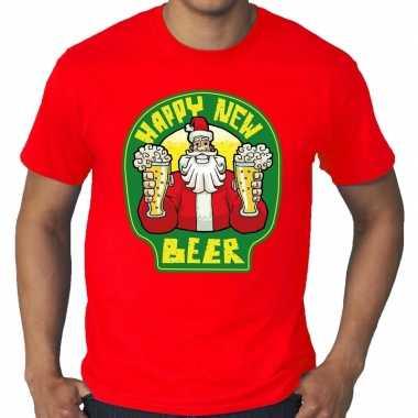 Goedkope grote maten kersttrui / t trui rodo proostende santa happy new beer voor heren