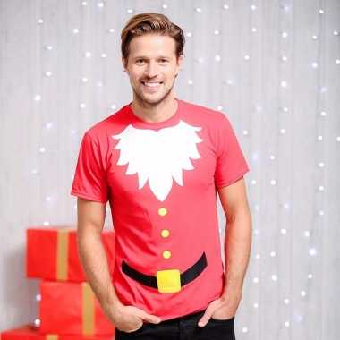 Goedkope kerst t trui met korte mouw santaclaus