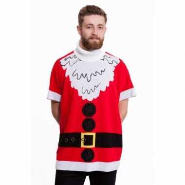 Goedkope kerstmis poncho kerstman voor heren