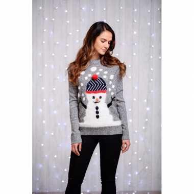 Goedkope kerstmis trui dames sneeuwpop