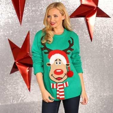 Kersttrui Voor Vrouwen.Goedkope Kerstmis Trui Groen Voor Vrouwen Goedkope Kersttrui Nl