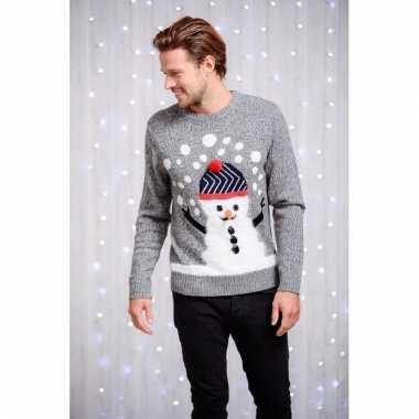Goedkope kerstmis trui heren sneeuwpop