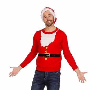 Goedkope kerstmis trui kerstman voor mannen