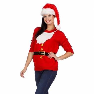 Goedkope kerstmis trui kerstman voor vrouwen