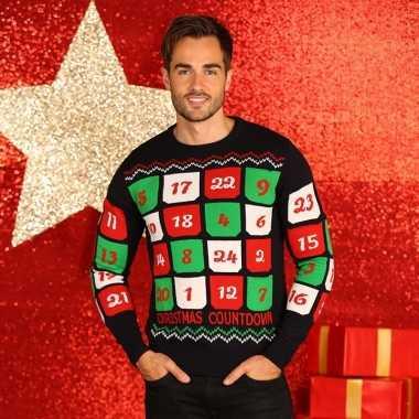 Goedkope kerstmis trui met adventskalender