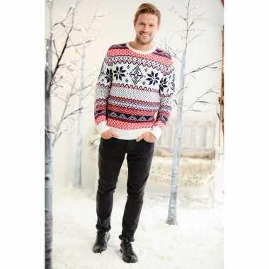 Goedkope kerstmis trui met noorse print