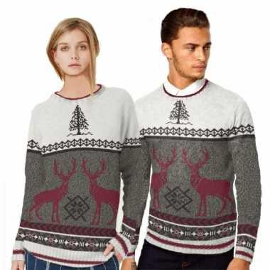 Goedkope kerstmis trui met rendieren voor mannen