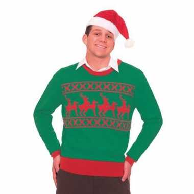 Goedkope kerstmis trui met rendieren