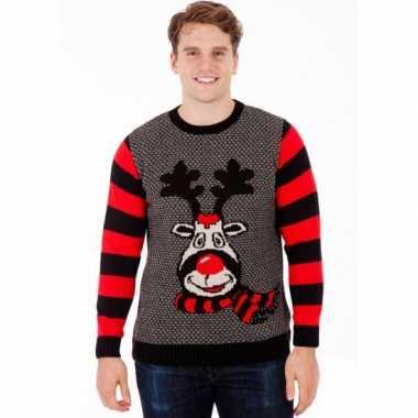 Goedkope kerstmis trui rudy reindeer voor mannen