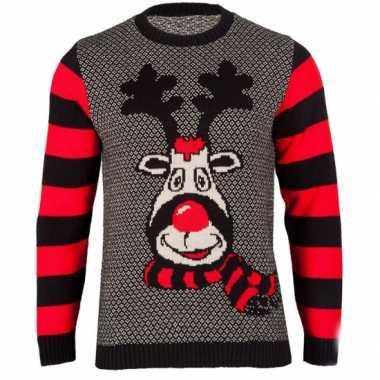 Goedkope kerstmis trui rudy reindeer voor vrouwen