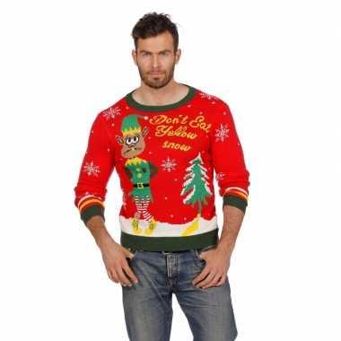 Goedkope kerstmis trui yellow snow voor mannen