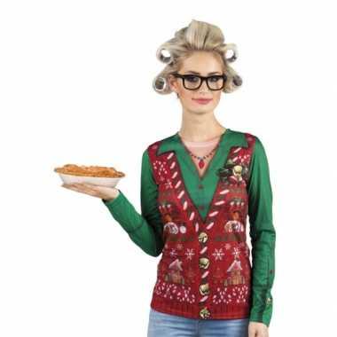 Goedkope kersttrui opdruk damesshirt