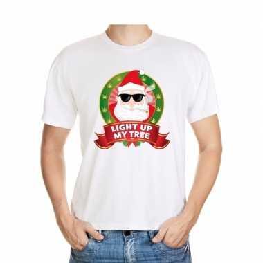 Goedkope ugly kerstmis trui wit wiet rokende kerstman voor mannen