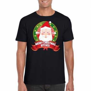 Goedkope ugly kerstmis trui zwart merry christmas bitches voor mannen