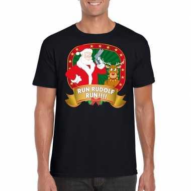 Goedkope ugly kerstmis trui zwart run rudolf voor mannen