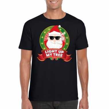 Goedkope ugly kerstmis trui zwart wiet rokende kerstman voor mannen