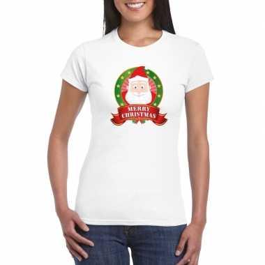 Trui Met Print.Goedkope Witte Kerst T Trui Met Kerstman Print Voor Dames Merry