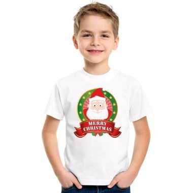 Kersttrui Poes.Goedkope Witte Kerst T Trui Voor Kinderen De Kerstman Goedkope