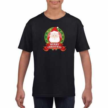 Goedkope zwarte kerst t trui voor kinderen de kerstman