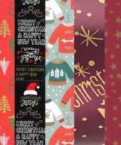 Goedkope 15x rollen kerst inpakpapier cadeaupapier diverse prints 2 5 x 0 7 meter voor volwassenen