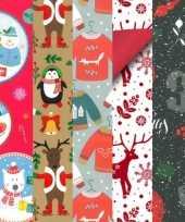 Goedkope 20x rollen kerst inpakpapier cadeaupapier diverse prints 2 5 x 0 7 meter voor kinderen