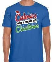 Goedkope blauw fout kerstrui calories dont count at christmas voor heren
